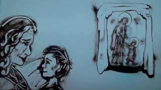 Ольга КОРМУХИНА - МОЛИТВА (...Ах, Мой Cынок...) | песочная анимация, 2015