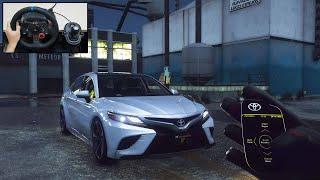 Toyota Camry XSE - POV Drive   GTA 5 Steering Wheel   Logitech G29 Gameplay