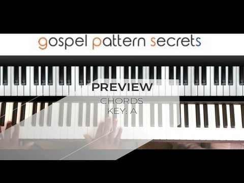 Gospel Chord Pattern key of A (Piano Tutorial)
