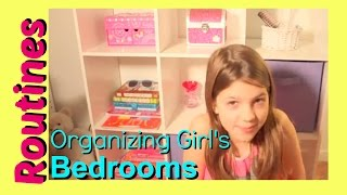 Girls Room Tour | Annie Re Organizes Her Bedroom | Organizing Girls Bedrooms
