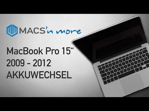 MacBook Pro 15 Zoll A1286 2009 bis 2012 Akku wechseln – Reparatur Anleitung (DEUTSCH)