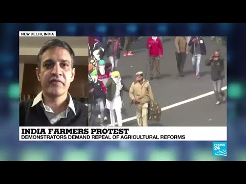 India Farmers protest: demonstrators demand repael,of agricultural reforms
