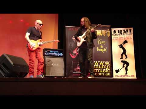 Peter Hodgson Jams With Joe Satriani - Melbourne, Australia, 2013