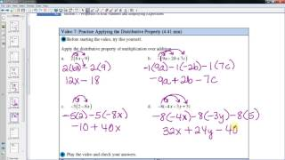 Properties of Real Numbers and Simplifying Expressions