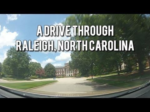 LET'S DRIVE! Scenic Drive Through Raleig