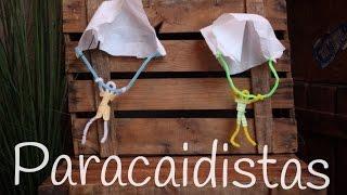 Manualidades con LIMPIAPIPAS: paracaidista volador | Inventos CASEROS para niños