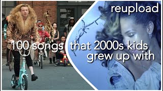 100 SONGS THAT 2000S KIDS GREW UP WITH (REUPLOAD) (+SPOTIFY PLAYLIST)