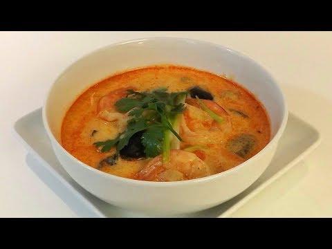 Sopa de Camarones Tailandesa Tom Yum Goong