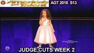 Sophie Fatu 5yo singer FULL PERFORMANCE New York New York America's Got Talent 2018 Judge Cuts 2 AGT