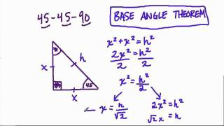 45-45-90 Right Triangles