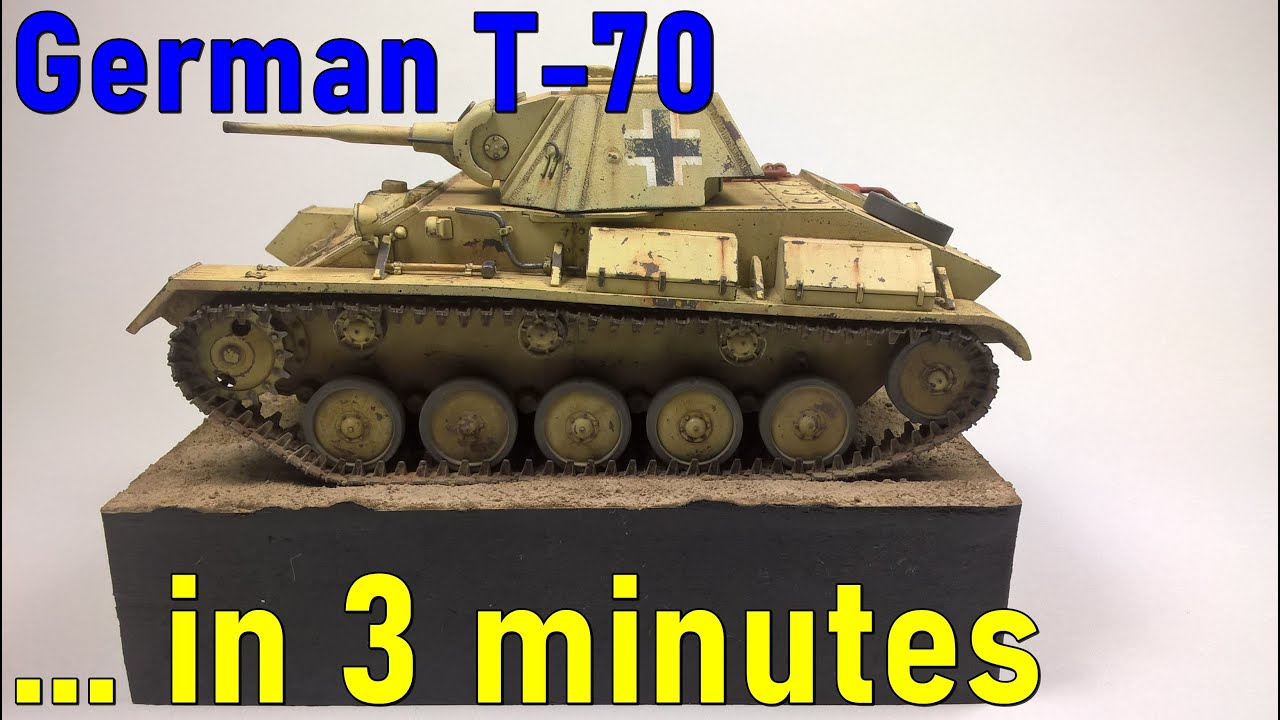 #3 … in 3 minutes – German T-70 scale 1/35 – model build