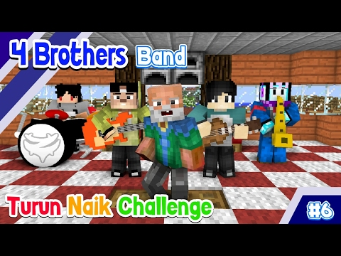 ♫ NAIK TURUN CHALLENGE Ft Anto - (4 Brothers Band) ♫ - Animasi Minecraft Indonesia #6 Mp3
