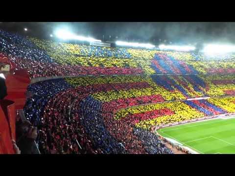 Tifo Barça - Real Madrid, Camp Nou