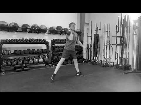 Single Arm Kettlebell Clean to Cossack Squat