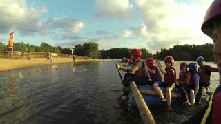 preview picture of video 'GoPro HD: 1st Brookwood Scouts Rafting. 21st June 2013.'