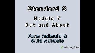 "智阳 3年级""启发""@25/6/2020 英语作业:Module 7 : Out and About - Animals"