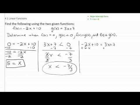 Linear Functions p3