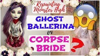GHOST BALLERINA MONSTER HIGH REPAINT / Spectra Spooky Dead Ballet Dance / Speedpaint Tutorial Barbie