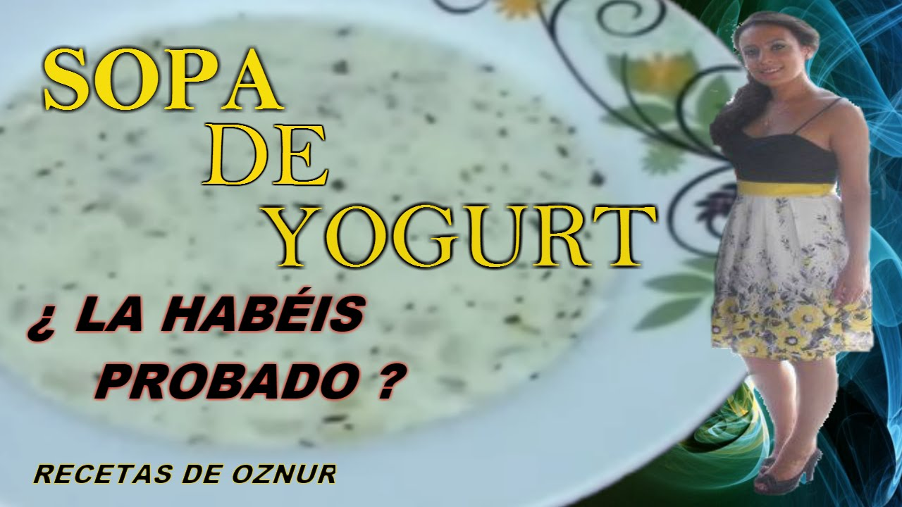 SOPA DE YOGURT | recetas de cocina faciles rapidas y economicas de hacer - comidas ricas