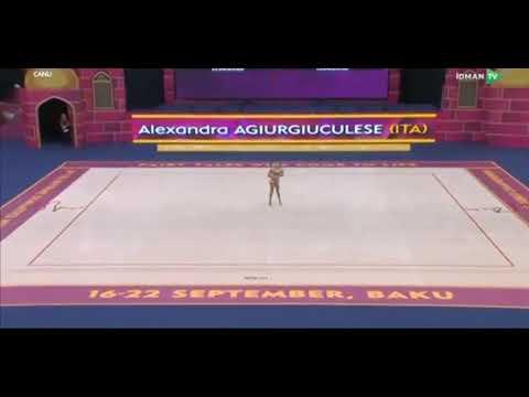 Alexandra Agiurgiuculese ribbon World Championship Baku 2019