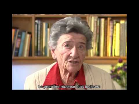 Fanny Rozelaar parle des Justes parmi les Nations qui l'ont sauvée