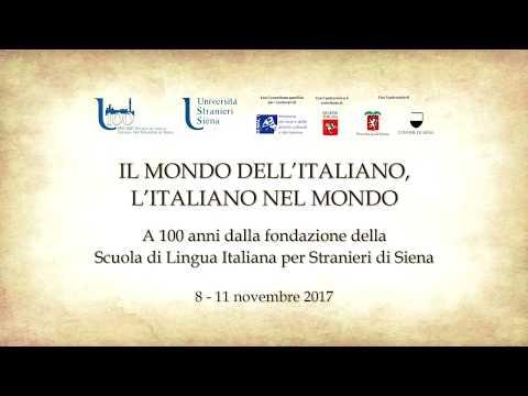 IL MONDO DELL'ITALIANO, L'ITALIANO NEL MONDO - giovedì 9 novembre