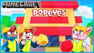They should NOT have hired us to build the Popeye's Chicken... Minecraft ep 20