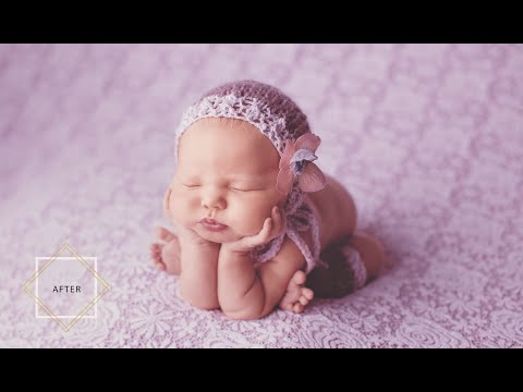 photo retouching tutorial for new born babies by pretty photoshop actions