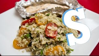 Quinoa Salad with Baked Salmon Recipe – SORTED