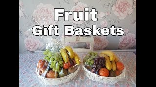 FRUIT GIFT BASKETS - EASTER | GET WELL | THINKING OF YOU TREAT| THANK YOU TEACHER GIFT