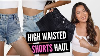 High Waisted Shorts Haul & Try On | Long Torso Friendly