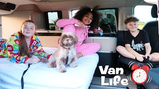 FAMILY VAN LIFE! Living On A FARM FOR 24 HOURS!!