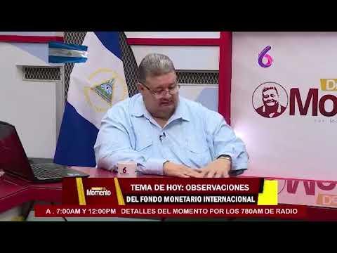 Presidente del BCN, Ovidio Reyes R. con Moisés Absalón Pastora en Detalles del Momento, Canal 6