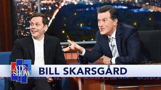 Bill Skarsgård Teaches Colbert The 'Pennywise Smile'