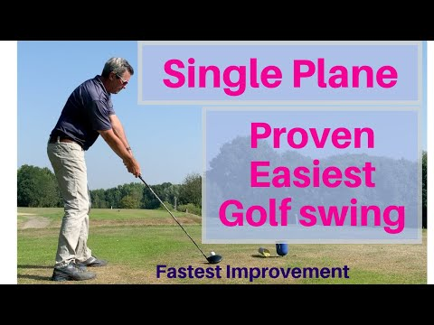 The Easiest Golf Swing to Learn – Science and Moe Prove it – Single Plane