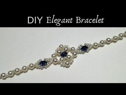 Diy Beaded bracelet. Easy beading tutorial