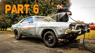 ABANDONED Dodge Challenger Rescued After 35 Years Part 6: HEMI and Rust Removal