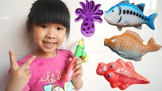 Trò Chơi Bé Bún Câu Con Cá – Bé Bắp Câu Con Tôm Đồ Chơi Trẻ Em ♥ CreativeKids ♥
