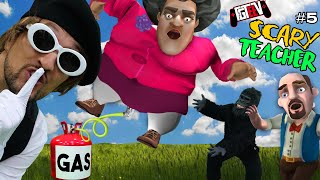 SCARY TEACHER vs. FAT GAS!  FGTeeV Ruined her Date Again! (Miss T Chapter 5 Gameplay / Skit)