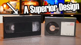 The VHS cassette was more clever than Beta