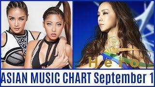 ASIAN MUSIC CHART September 2016 Week 1