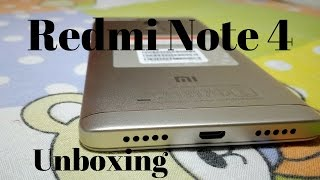 Redmi Note 4 (Gold, 64 GB) Unboxing