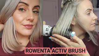 DRYING MY HAIR WITH ROWENTA BRUSH ACTIV PREMIUM HAIR | HAIR ROUTINE | Join my Journey
