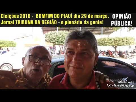 Eleições 2018 - OPINIÃO PÚBLICA. Bonfim do Piauí