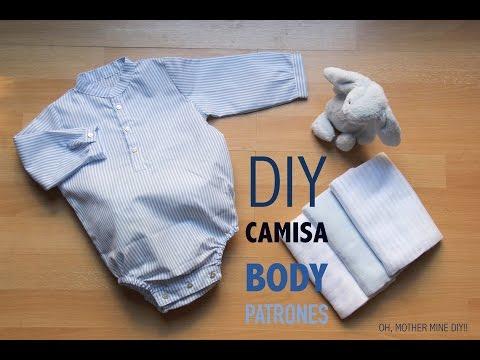 DIY Como hacer body camisa bebe (patrones gratis)