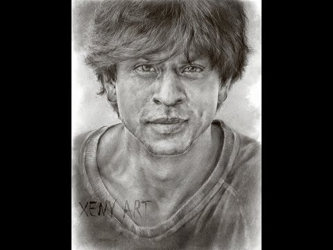 Sketching Shah Rukh Khan Part 2. SRK. Bollywood. Drawing. Portrait. HD video