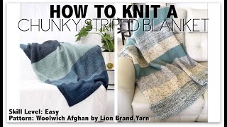 SUPER FAST TUTORIAL ON HOW TO KNIT A BLANKET