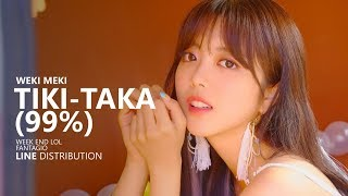 WEKI MEKI 위키미키 - TIKI-TAKA (99%) | Line Distribution