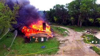 Training burn for two Northern IL Fire departments