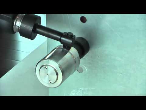 """HAUPA 217600 Akku Hydraulikstanze """"AS 6  mit 360° drehbarem Kopf Batterie hydraulic punching tool"""